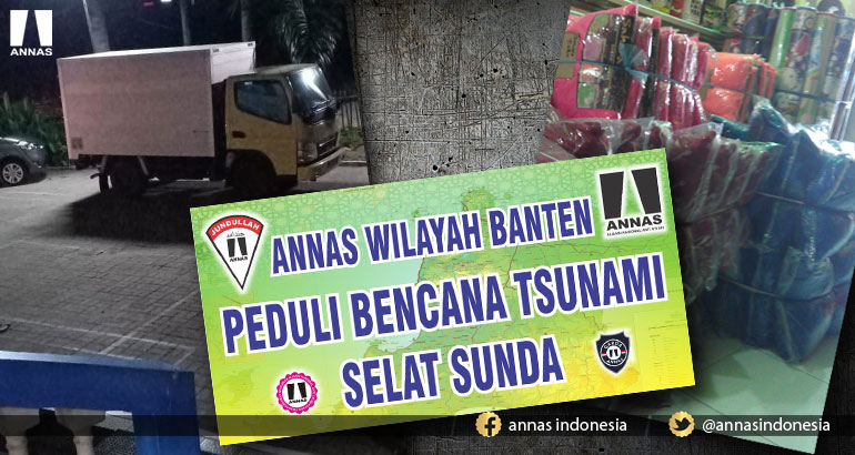 Relawan JUNDULLAH ANNAS Banten Distribusikan bantuan korban Tsunami
