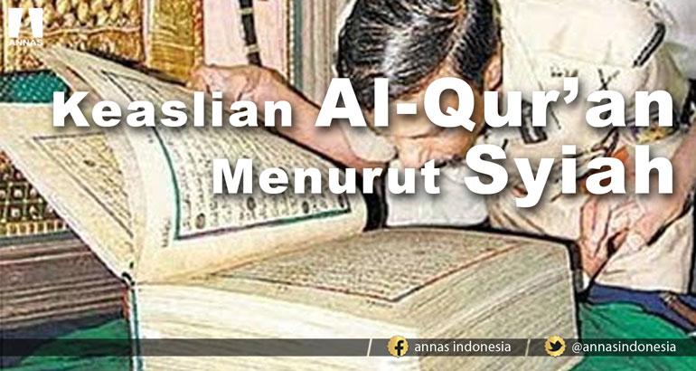 KEASLIAN AL-QUR'AN MENURUT SYIAH