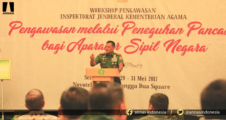 PANGLIMA TNI : JANGAN JADIKAN NEGERI INI AJANG KONFLIK AGAMA