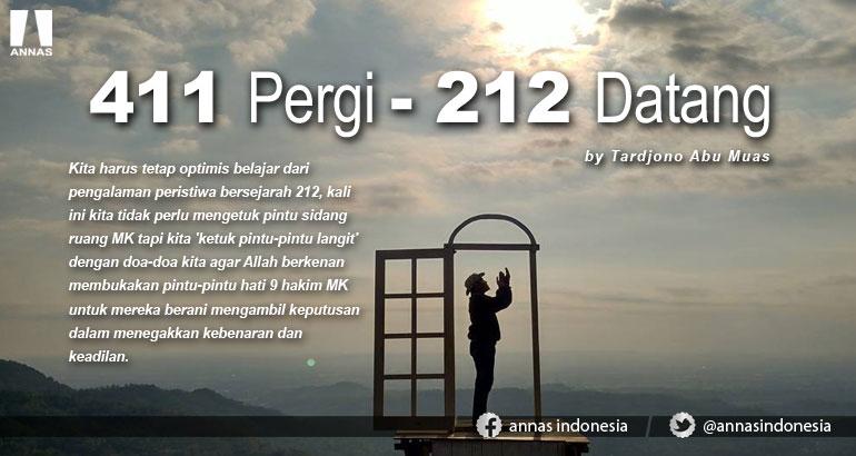 411 PERGI - 212 DATANG