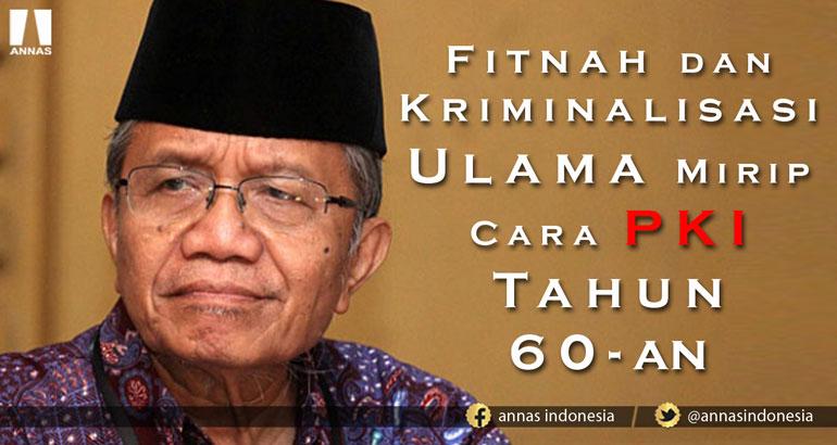 Taufik Ismail: FITNAH DAN KRIMINALISASI ULAMA MIRIP CARA PKI TAHUN 60-AN