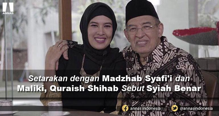 Setarakan dengan Madzhab Syafi'i dan Maliki, Quraish Shihab Sebut Syiah Benar