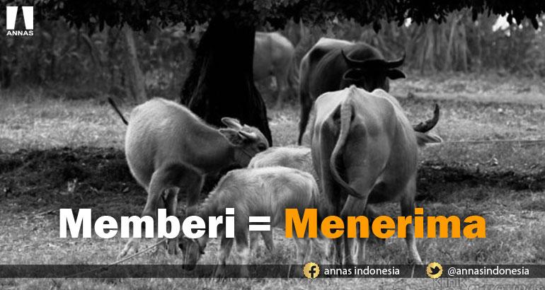 MEMBERI = MENERIMA