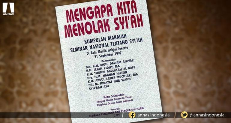 ARTI TANGISAN KH. IRFAN ZIDNY DALAM SEMINAR SYIAH TAHUN 1997