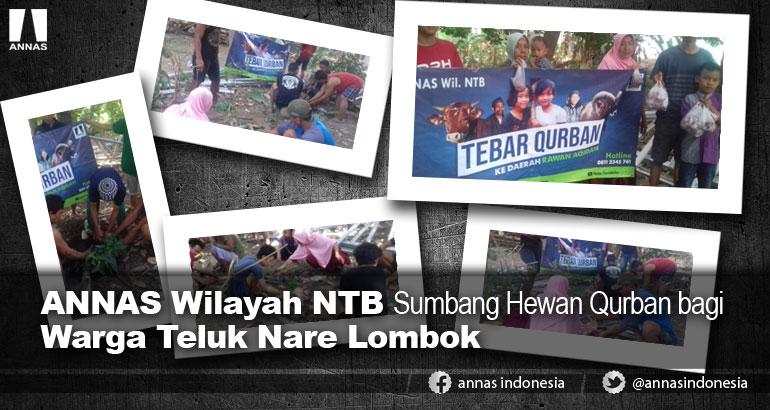 ANNAS Wilayah NTB Sumbang Hewan Qurban bagi Warga Teluk Nare Lombok