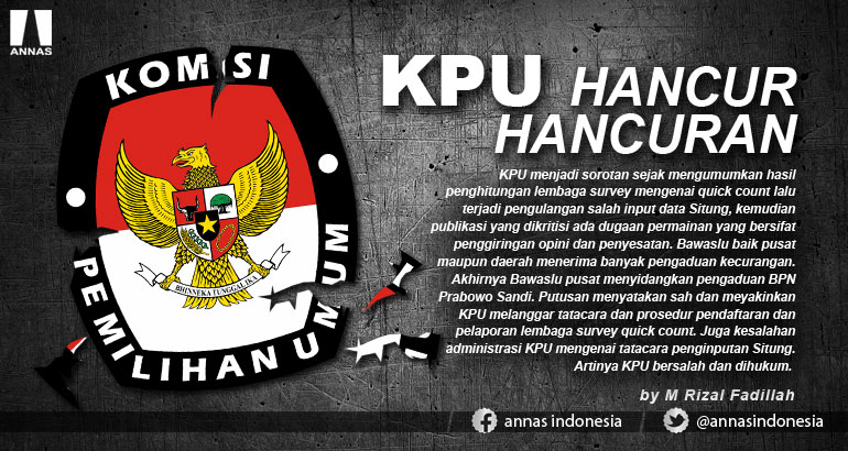 KPU HANCUR HANCURAN