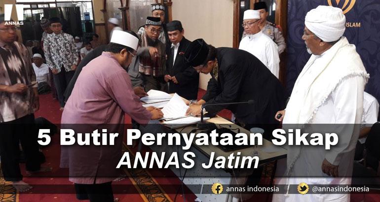 5 BUTIR PERNYATAAN SIKAP ANNAS JATIM