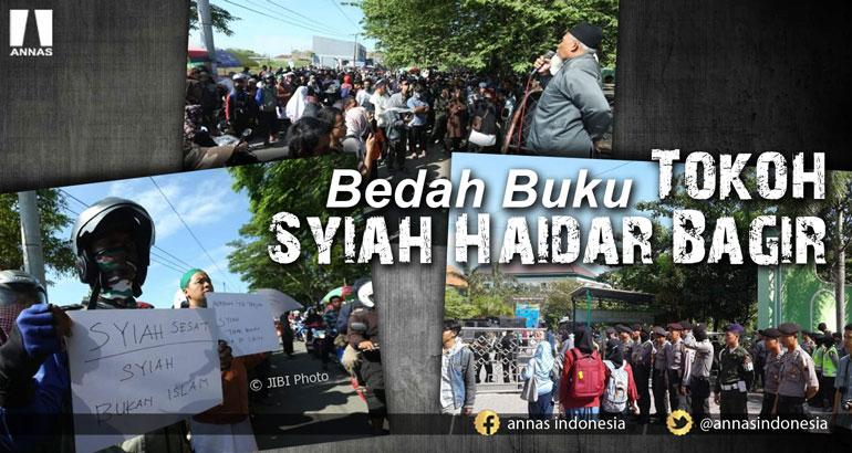 BEDAH BUKU TOKOH SYIAH HAIDAR BAGIR DIJAGA KETAT APARAT POLISI